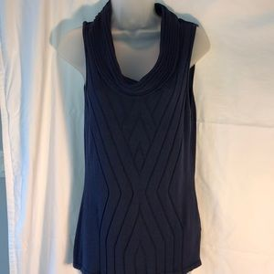 Antonio Melani Navy Blue Sleeveless Sweater